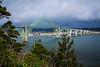 The Yaquina Bay Bridge is an arch bridge that spans Yaquina Bay south of Newport, Oregon, USA.