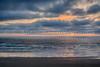 A Pacific Ocean sunset near Newport, Oregon, USA.