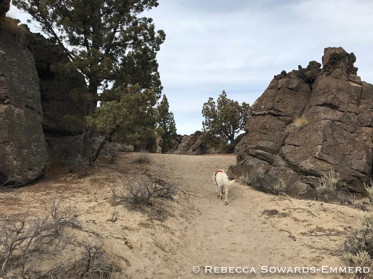 Hiking to the top of Flatiron Rock