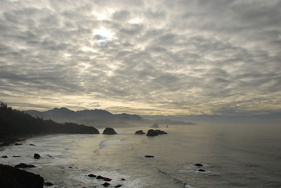 looking south from Ecola Point