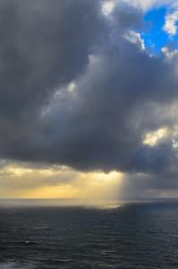 Winter Sunbeams on the Ocean