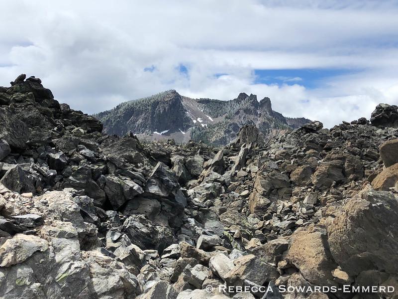 Paulina Peak above Big Obsidian Flow