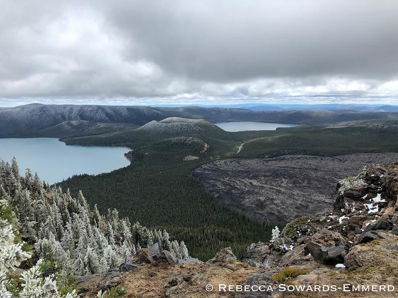 Big Obsidian Flow below Paulina Peak