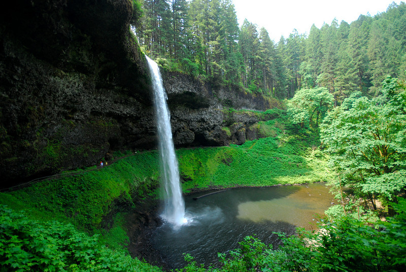 South Falls, 1st waterfall of the hike in Silver Falls State Park, OR