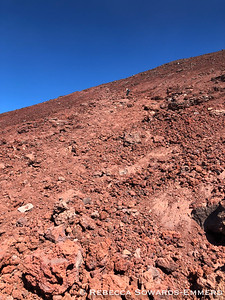 The final cut over to the summit crater is the worst.
