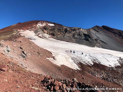 The crevasses in the Lewis Glacier were impressive!