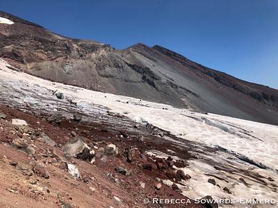 Crevasses in Lewis Glacier