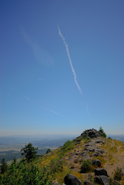 On top of Spencer's Butte above Eugene.