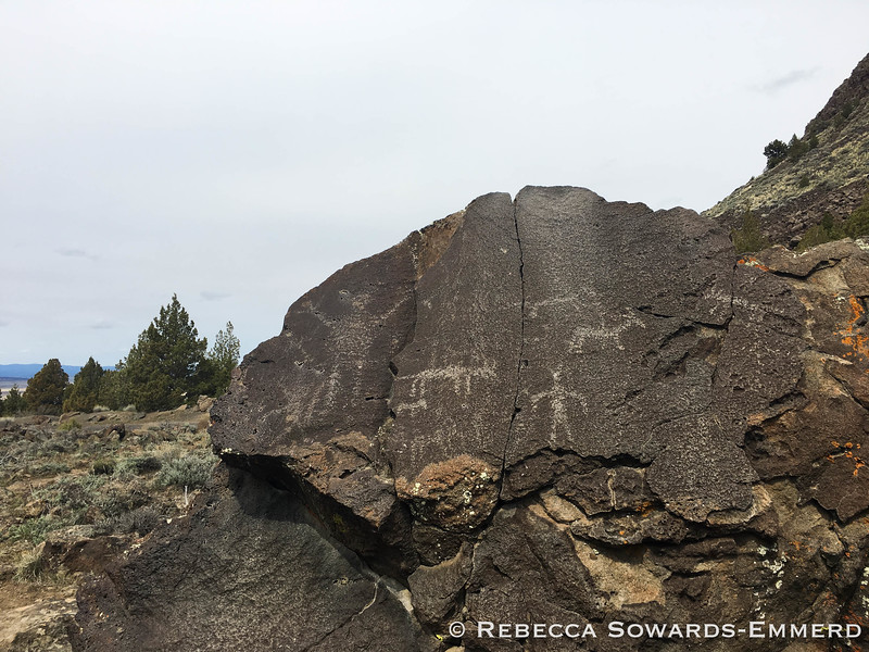 Heading north, we stopped by Picture Rock Pass to check out the ancient (7500-12000 year old) petroglyphs. The oldest signs of habitation in the americas have been found in nearby caves.