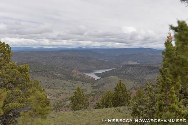 Prineville Reservoir from Taylor Butte