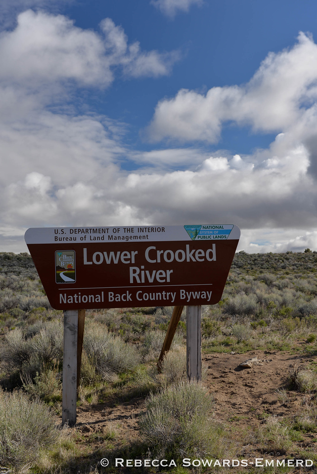 "Today I drove from south to north along the Crooked River ""Highway"" - highway 27 off of 20. It's dirt part way, so much for highway."