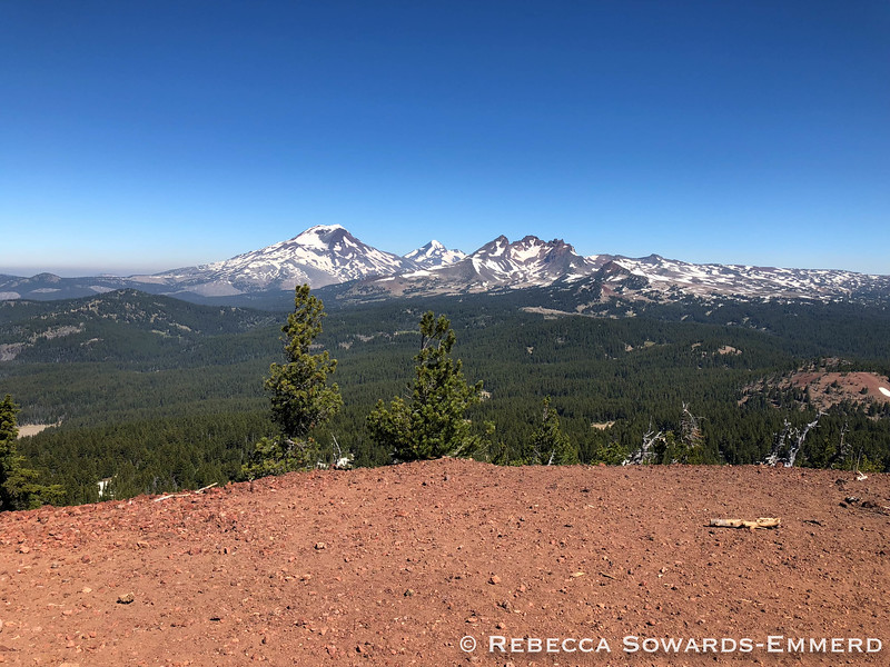 South Sister, Middle Sister, and Broken Top.