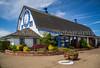 The Blue Heron French Cheese Company shop in Tillamook, Oregon, USA.