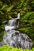 A small roadside waterfall along the Willamette Hwy in rural Oregon, USA.