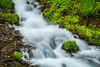 The Wahkeena Falls in the Columbia River Gorge, Oregon, USA.