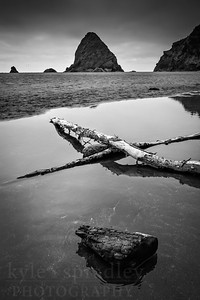 The Oregon Coast in black and white.  Photo by Kyle Spradley | www.kspradleyphoto.com