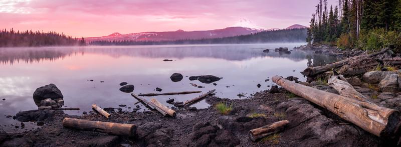 Panoramic Sunrise over Olallie lake