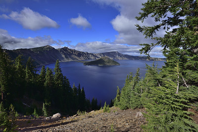 Crater Lake in Oregon - deepest lake in the U.S. at over 2000 feet deep