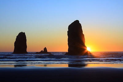 Sunset at Canon Beach