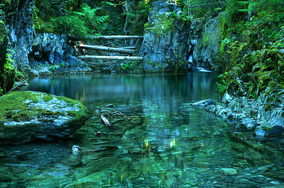 Opal Pool at Opal Creek Wilderness -- Fall  72mm Schneider XL, Center Filter, Fuji Velvia 50