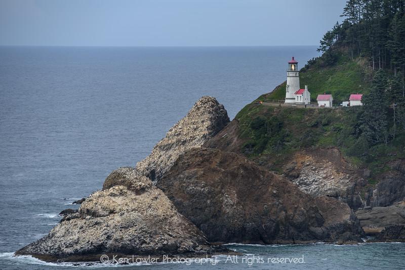 Heceta Head Lighthouse overcast
