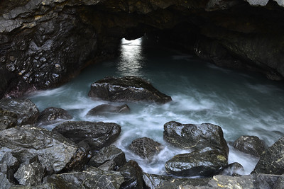 Sea Cave at Sisters Rocks State Park on the Oregon Coast