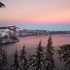 Crater Lake Winter Sunset