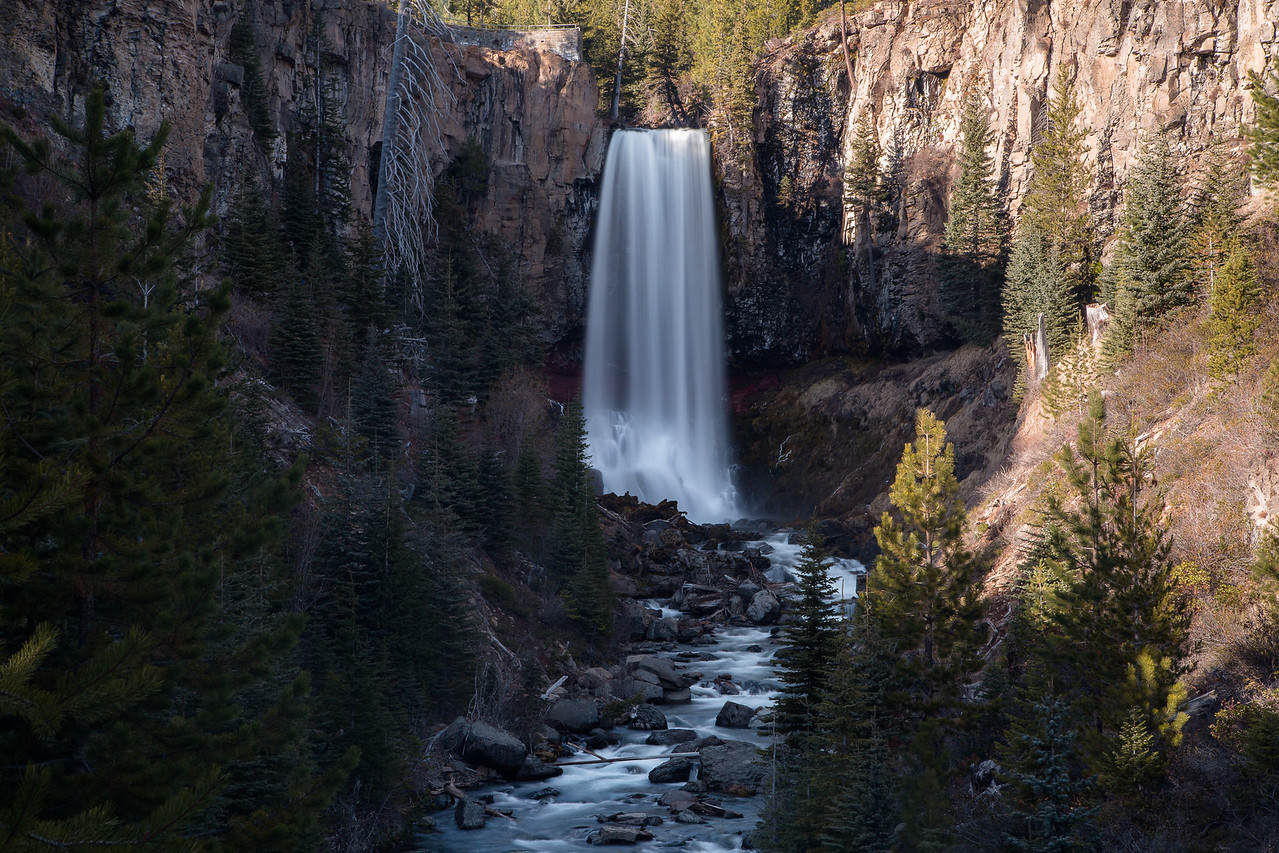 Shadows over Tumalo Falls