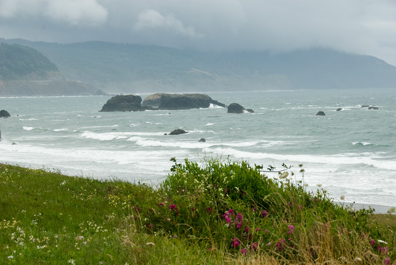 The ominous stormy clouds over Port Orford, Oregon. It was really windy here!<br /> D200_2007-07-21DSC_2671-PortOrfordOceanClouds-2.jpg