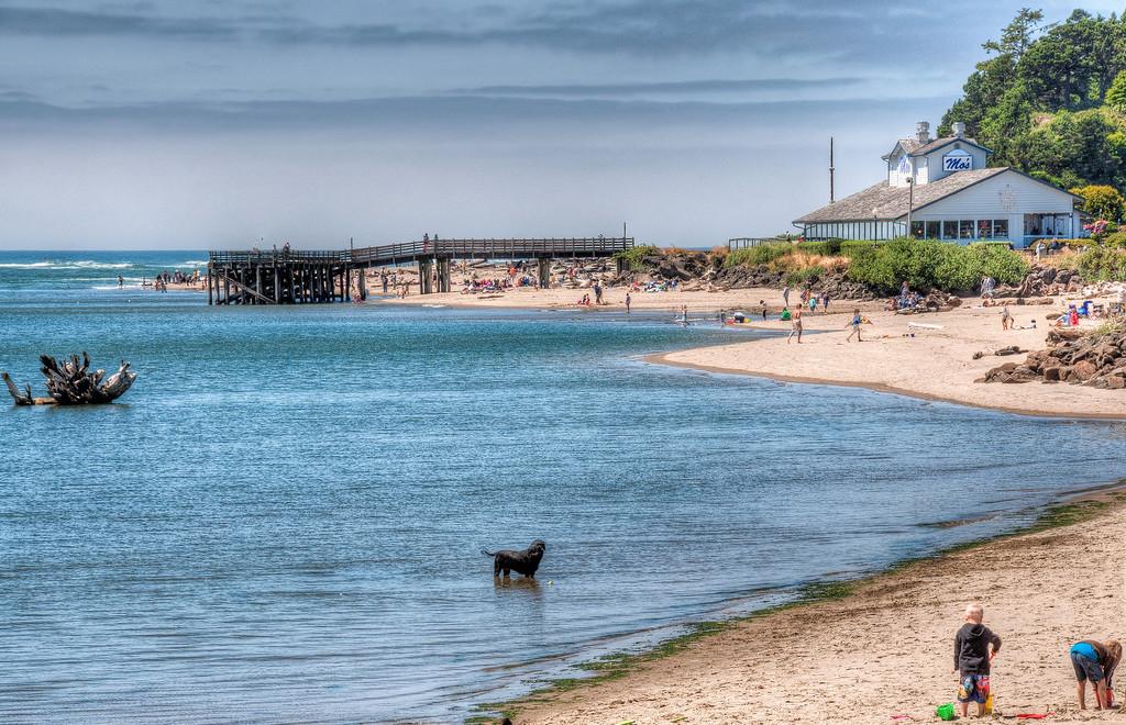 oregon-coast-ocean-beach-playing