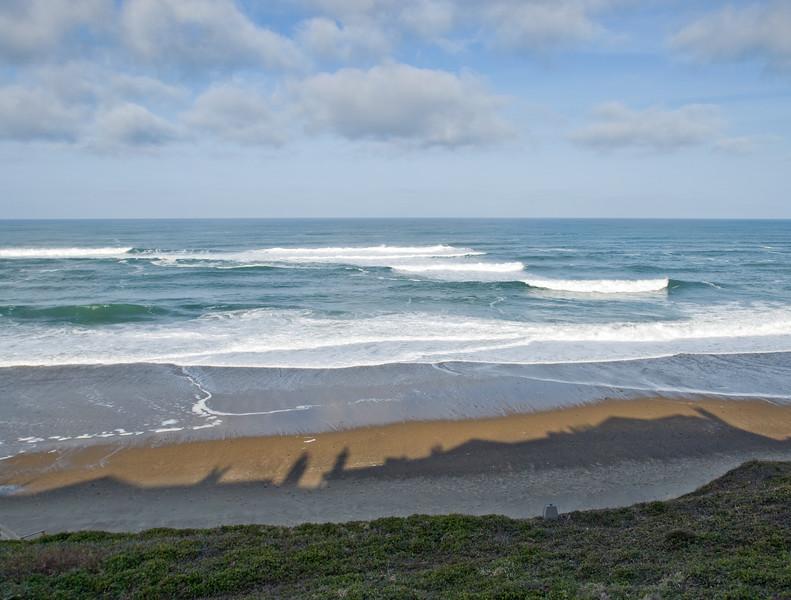 Cavalier Condo shadow on beach - Ocean View<br /> March 2009<br /> <br /> Copyright © 2009 Rick Kruer<br /> rickkruer.com<br /> <br /> D200_20090318_0937_DSC_0076-CavalierShadowOnBeach-nice-3.psd