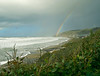 Double Rainbow Forming on a Stormy Day on the Central Oregon Coast<br /> Lands End near Lincoln City, Oregon<br /> January 2006<br /> <br /> Copyright © 2006 Rick Kruer<br /> rickkruer.com<br /> <br /> ND70_2006-01-02DSC_2800-LandsEndStormyRainbowWide-6.psd