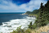 A nice wide angle view of Heceta Head Lighthouse, looking north on the road US101 as we head toward Florence, OR.<br /> ND70_2006-07-25DSC_5905-HecetaHeadLighthouse-nice-2.jpg