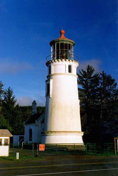 """In 2006 the tower received some restoration work when new doors and windows were installed.  In 2009 the Coast Guard declared the Umpqua River Light was """"not necessary for safe navigation"""" and began a discussion on how to discontinue the light.  In response Douglas County stepped in and accepted ownership of the lighthouse in order to operate the light as a Private Aid to Navigation (PATON).  People today can visit the lighthouse and the adjacent Coastal History Museum from May to September during visiting hours.  Visit  <a href=""""http://www.umpqualighthouse.org"""">http://www.umpqualighthouse.org</a> for additional information about visiting the light."""