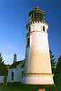 The Light House Board decided to build a new light at Cape Arago rather than rebuild at Umpqua River.  It was not until 1888 that the Board requested funds to rebuild at Umpqua as part of their plan to light the entire Oregon coast.  Construction of a 65 foot brick tower covered in plaster took place from 1891 to 1893.  This time the site was 100 feet above sea level, away from the beach.
