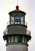 The First Order Fresnel lens for Yaquina Head was ordered from Barbier & Fenestre in France. It was delivered via the isthmus of Panama and installed in the lantern. On August 20, 1873 the lamp was lit by Keeper Fayette Crosby, who had also first lit the Umpqua River Lighthouse. This lens remains in the tower to this day.