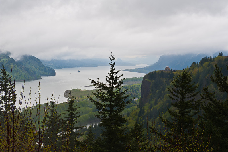 Crown Point Vista sets above the Columbia River with views down  the gorge.