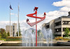 Mayors Plaza fountain in Medford.<br /> © 2011 Jim Craven, All rights reserved.