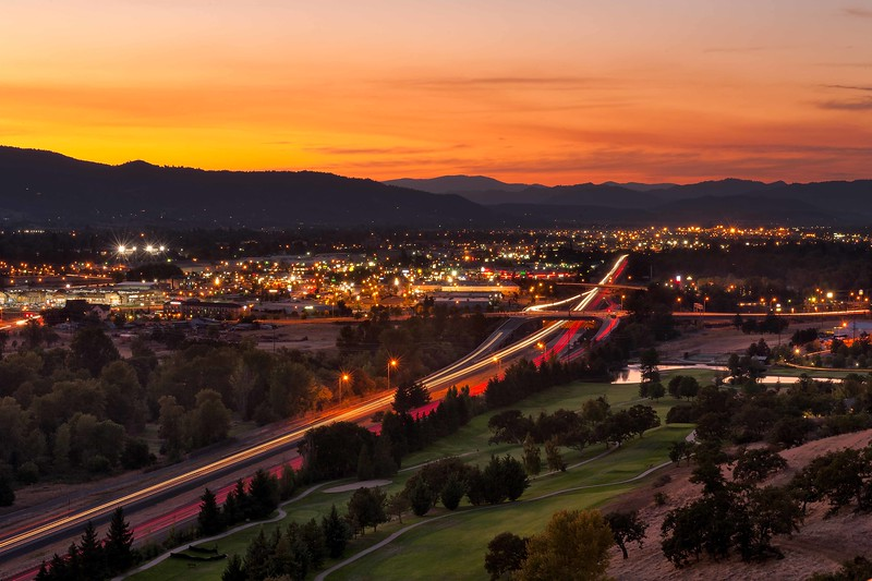 Medford, Oregon from Rogue Valley Manor.<br /> © 2012 Jim Craven, All rights reserved.
