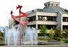Mayors Plaza Fountain and Medford City Hall<br /> © 2011 Jim Craven, All rights reserved.