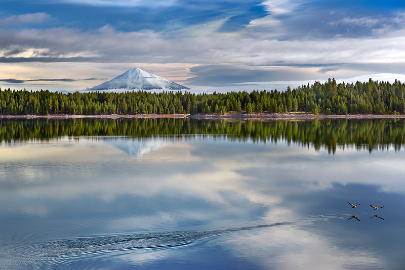 Mt. McLoughlin and Howard Prairie Lake<br /> © 2013 Jim Craven, All rights reserved.