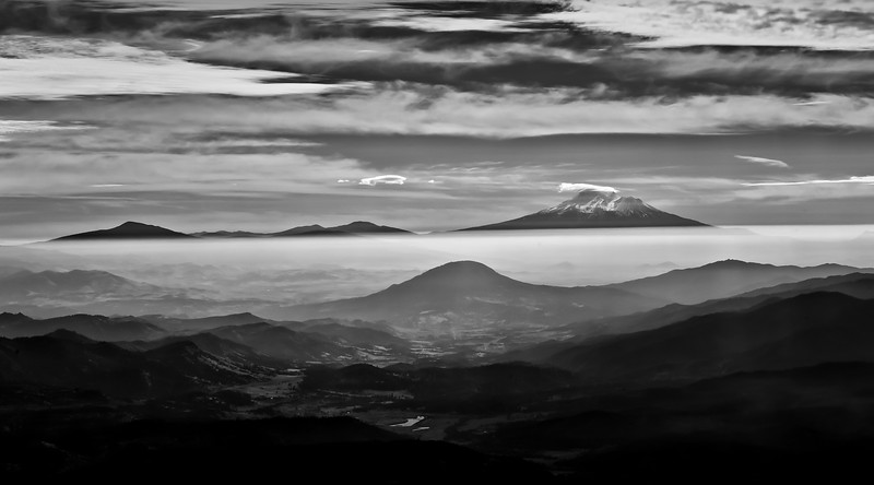 View from Mt. Ashland: Mt. Shasta and Colestin Valley.<br /> © 2011 Jim Craven, All rights reserved.