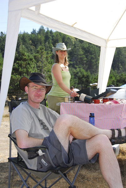 Tim and Erica roughing it...