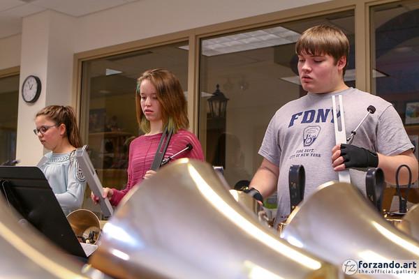 Allegro Handbell Ensemble in Rehearsal