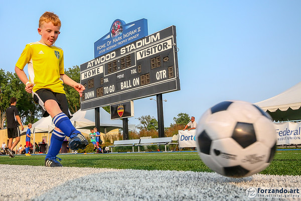 Flint City Bucks Host a Kids' Soccer Workout