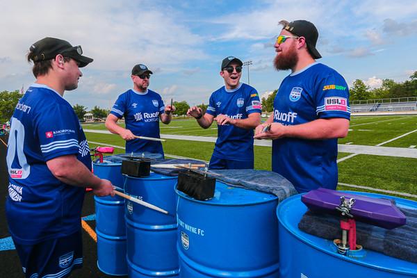 The Fort Wayne FC Drum Drummers
