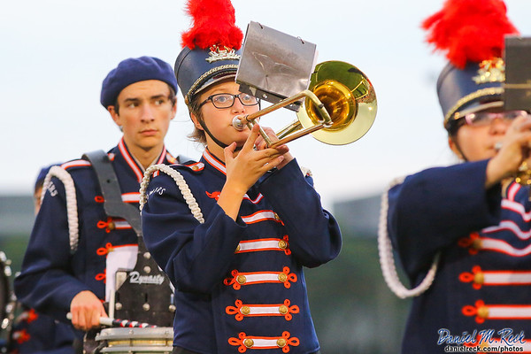 The Powers Catholic Marching Band Performs at the Vehicle City Gridiron Classic