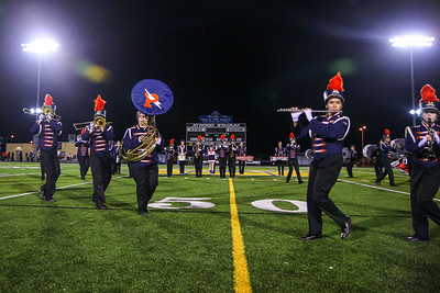 The Powers Catholic Marching Band Performs Under the Lights at Atwood Stadium