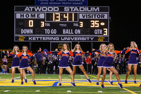 The Powers Catholic Dance Team Performs at Atwood Stadium