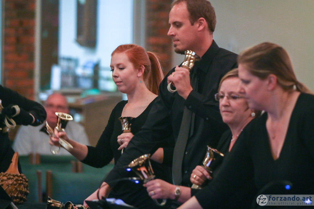 Kyle Webber (center) will bring more than 20 years of handbell musicianship to the National Seminar opening concert.